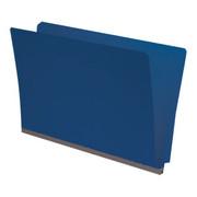 End Tab Pressboard Folder -  Cobalt Blue