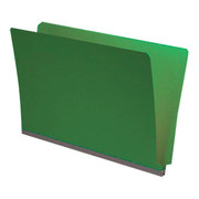 End Tab Pressboard Folder - Emerald Green