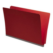 End Tab Pressboard Folder - Ruby Red