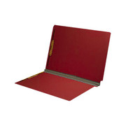 End Tab Pressboard Folder - Ruby Red - 3