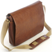 Korchmar Crossbody Messenger - Chocolate