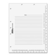 Tabbies Legal Index Divider Sheets