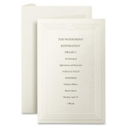 First Base Overtures Embossed Invitation Card - 1