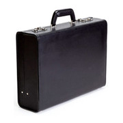 "Korchmar 4"" Attache Briefcase - Black"