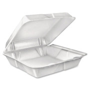 Dart Large 1-Comprtmnt Carryout Foam Food Trays