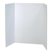 Pacon Spotlight White Headers Corrugated Presentation Board