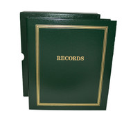 "Green Estate Planning Binder Imprinted ""Records"""
