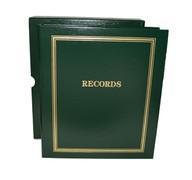 "Green Estate Planning Binder Imprinted ""Records"""