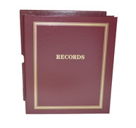 "Maroon Estate Planning Binder Imprinted ""Records"""