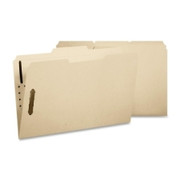 Smead 11537 Manila Fastener File Folders with Reinforced Tab