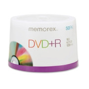 Memorex DVD Recordable Media - DVD+R - 16x - 4.70 GB - 50 Pack Spindle
