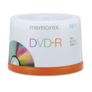 Memorex DVD Recordable Media - DVD-R - 16x - 4.70 GB - 50 Pack Spindle