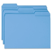 Smead 12034 Blue Colored File Folders with Reinforced Tab