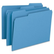 Smead 12043 Blue Colored File Folders
