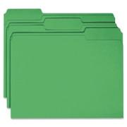 Smead 12143 Green Colored File Folders