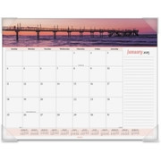 At-A-Glance Panoramic Seascape Desk Pad Calendar