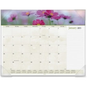 At-A-Glance Panoramic Floral Desk Pad Calendar