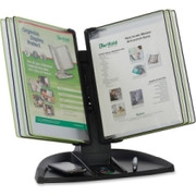 Tarifold Black Line Desk Set, Black/Green Pockets