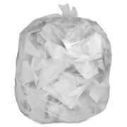 Genuine Joe Clear Trash Can Liners - 1