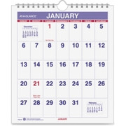 At-A-Glance One-page-per-month Mini Wall Calendar