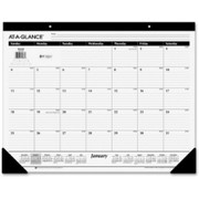At-A-Glance Nonrefillable Classic 12-mth Desk Pad