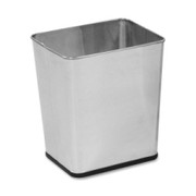 United Receptacle Stainless Steel Wastebasket