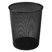 United Receptacle Round Steel Mesh Wastebasket