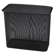 United Receptacle Steel Mesh Rectangle Wastebasket