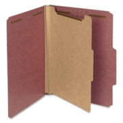 Smead 13724 Red 100% Recycled Pressboard Colored Classification Folders