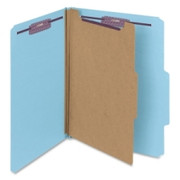 Smead 13730 Blue Colored Pressboard Classification Folders with SafeSHIELD Fasteners