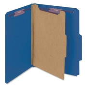 Smead 13732 Dark Blue Colored Pressboard Classification Folders with SafeSHIELD Fasteners