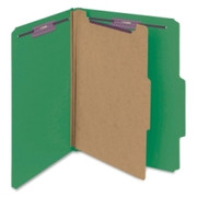 Smead 13733 Green Colored Pressboard Classification Folders with SafeSHIELD Fasteners