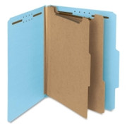 Smead 14021 Blue 100% Recycled Pressboard Colored Classification Folders