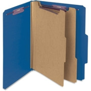 Smead 14032 Dark Blue Colored Pressboard Classification Folders with SafeSHIELD Fasteners