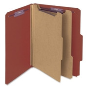 Smead 14075 Red Pressboard Classification Folder with SafeSHIELD Fasteners