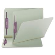 Smead 14910 Gray/Green Pressboard Fastener File Folders with SafeSHIELD Fasteners