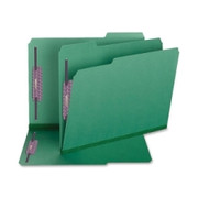 Smead 14938 Green Colored Pressboard Fastener File Folders with SafeSHIELD Fasteners