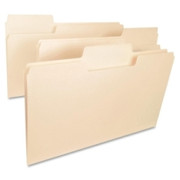 Smead 15401 Manila SuperTab Heavyweight File Folders with Oversized Tab