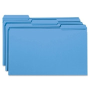 Smead 17034 Blue Colored File Folders with Reinforced Tab