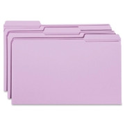 Smead 17434 Lavender Colored File Folders with Reinforced Tab