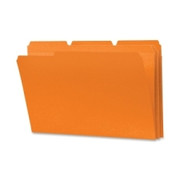 Smead 17534 Orange Colored File Folders with Reinforced Tab