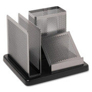Rolodex Distinctions Wood Base Desk Organizer