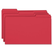 Smead 17734 Red Colored File Folders with Reinforced Tab