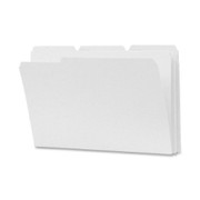 Smead 17834 White Colored File Folders with Reinforced Tab