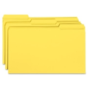 Smead 17934 Yellow Colored File Folders with Reinforced Tab