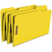 Smead 17940 Yellow Colored Fastener File Folders with Reinforced Tabs