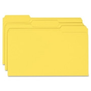 Smead 17943 Yellow Colored File Folders