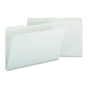 Smead 18230 Gray/Green Pressboard File Folders