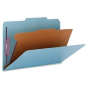 Smead 18730 Blue Colored Pressboard Classification Folders with SafeSHIELD Fasteners