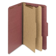 Smead 19023 Red 100% Recycled Pressboard Colored Classification Folders